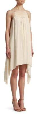 Halston Smocked Flowy Dress