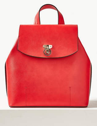 Marks and Spencer Faux Leather Backpack Bag