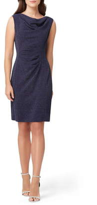 Tahari Sleeveless Stretch Metallic Sheath Dress