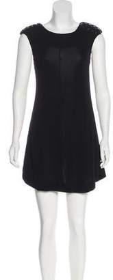 Elizabeth and James Stud-Embellished Mini Dress