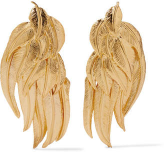 Aurelie Bidermann Elvira Gold-plated Clip Earrings