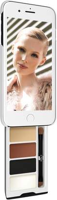 Pout Case - Utterly Nude Kit Makeup Case For iPhone Plus White & Black Case