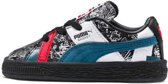 PUMA x Shantell Martin Basket Graphic Preschool Sneakers