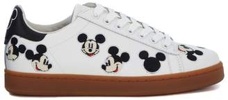 M.O.A. Master Of Arts Moa Mickey Mouse White Leather Sneaker
