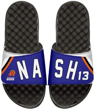 ISlide Men's NBA Retro Legends Steve Nash 13 Jersey Slide Sandals, White