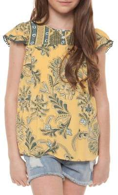 Dex Girl's Floral Frill Top