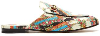 Gucci Princetown floral-print backless loafers