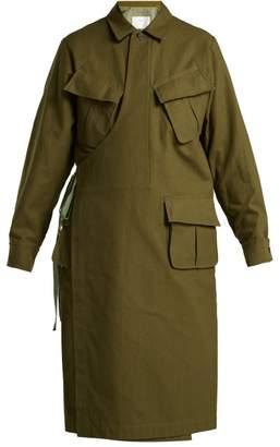 Toga Wrap-front cotton coat