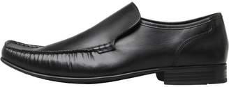 Base London Mens Windsor Slip On Shoes Waxy Black
