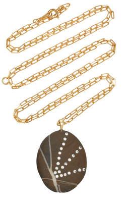 Cvc Stones Rays 18K Gold, Diamond And Stone Necklace