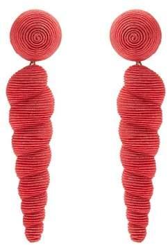 REBECCA DE RAVENEL Twisty drop earrings