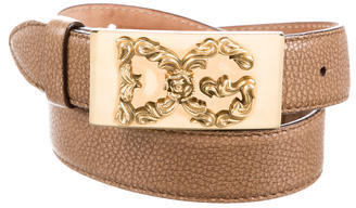 Dolce & Gabbana Dolce & Gabbana Leather Logo Belt
