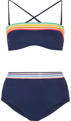Emma Pake - Sunrise Siena Ilaria Striped Bikini - Midnight blue