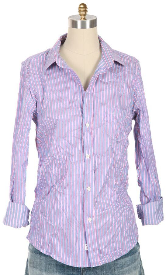 FRANK AND EILEEN Stripe Barry Button Down Shirt