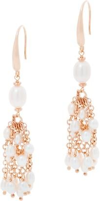 Honora Sterling Silver Cultured Pearl Tassel Earrings