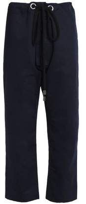Marni Cotton And Linen-Blend Straight-Leg Pants