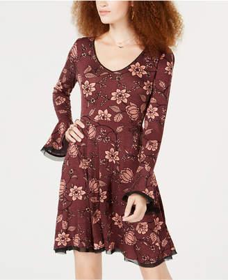 American Rag Juniors' Floral-Print Fit & Flare Dress