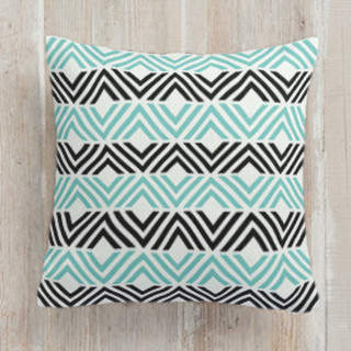Geometric Stripes Self-Launch Square Pillows
