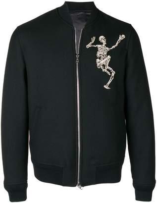 Alexander McQueen Dancing Skeleton bomber jacket