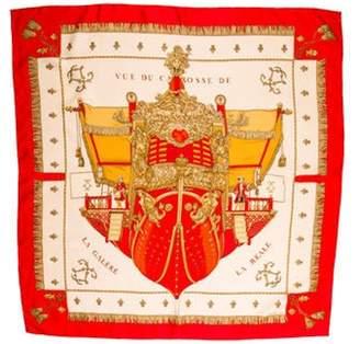 Vue Hermà ̈s Du Carrosse De Galere La Reale Silk Scarf Red Hermà ̈s Du Carrosse De Galere La Reale Silk Scarf