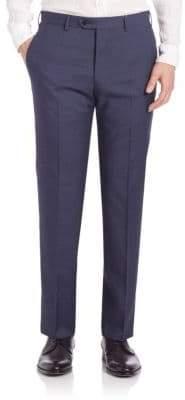 Armani Collezioni Melange Textured Trousers