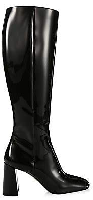 Prada Women's Tall Patent Leather Boots