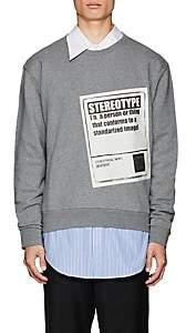 "Maison Margiela Men's ""Stereotype"" Cotton Sweatshirt-Gray"