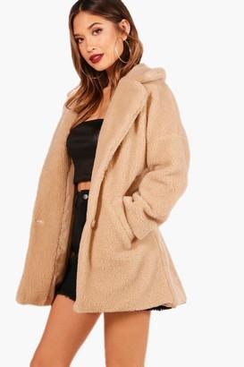 boohoo Ellie Teddy Faux Fur Coat