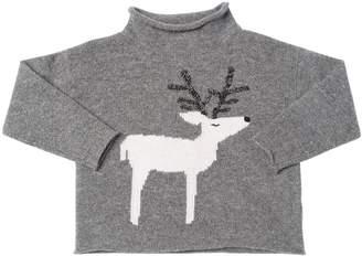 Il Gufo Reindeer Intarsia Wool Knit Sweater