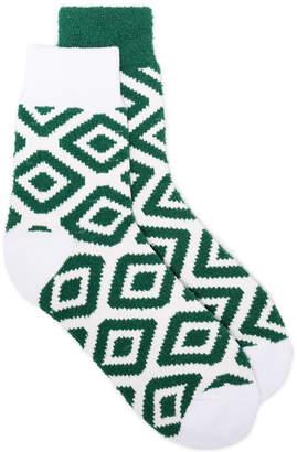 Sacai jacquard low socks