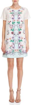 Yumi French Botanical Placement Tunic Dress