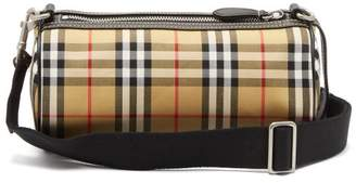 Burberry Kennedy Small Vintage Check Barrel Bag - Womens - Brown