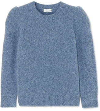 Co Cashmere-blend Bouclé Sweater - Blue