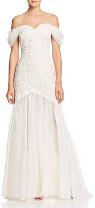 Tadashi Shoji Off-the-Shoulder Bridal Gown