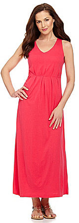 Westbound Sleeveless Pleat-Front Maxi Dress