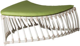 David Francis Furniture Palm Ottoman - Green Sunbrella