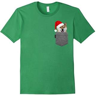 Dog in Your Pocket Tshirt Shiba Inu Shirt Doge Tee Santa Hat