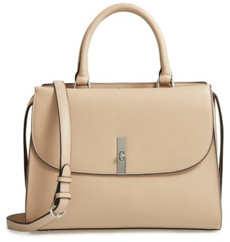 Chelsea28 Morgan Convertible Faux Leather Satchel - Beige $99 thestylecure.com