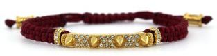 Vince Camuto 14Kt. Gold Plated Metal & Nylon Satin Bracelet