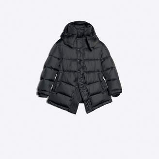 Balenciaga Slightly oversize puffer jacket with logo embroidered on the back neckline