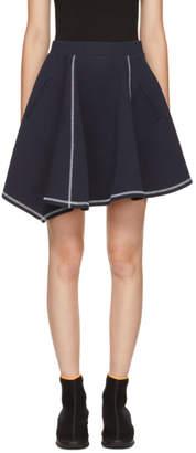 Kenzo Navy Stitched Jersey Miniskirt