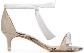 Alexandre Birman kitten heel tie strap sandals