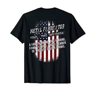 American Flag Metal Fabricator Definition Shirt Proud Union
