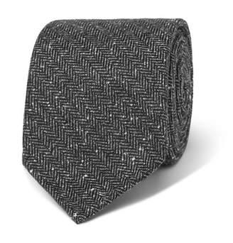 Drakes Drake's 8cm Herringbone Silk And Cotton-Blend Tie