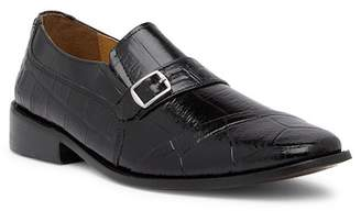 Giorgio Brutini Haney Croc Embossed Monk Strap Slip-On Loafer