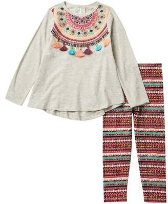 Jessica Simpson 2 Piece Top/Leggings Set (Toddler Girls)