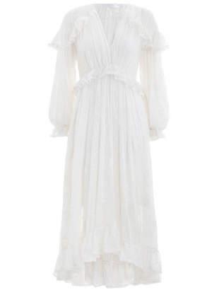 Zimmermann Lovelorn Cape Shoulder Dress