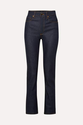 Khaite - Victoria High-rise Straight-leg Jeans - Blue