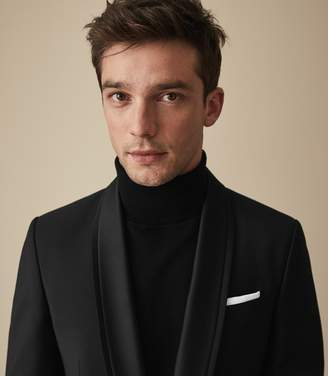 Reiss Our last order date for Christmas has now passed SUNRISE SHAWL COLLAR BLAZER Black