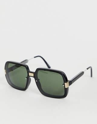 Spitfire oversized square sunglasses in black
